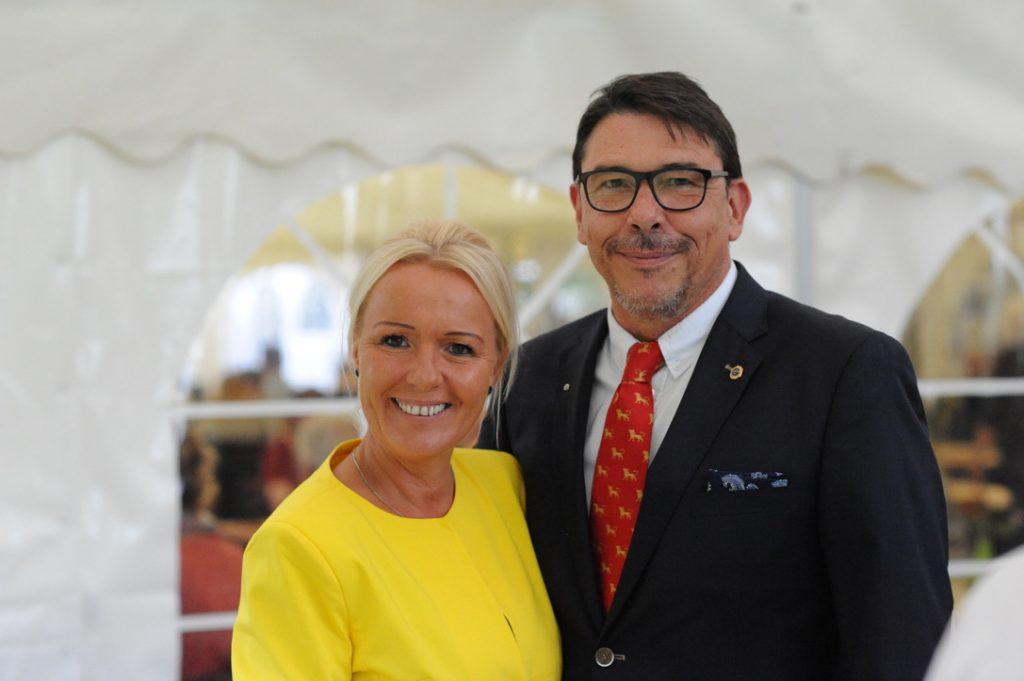 Sindy Weste & Karsten H. F. Weste: das scheidende Präsidentenehepaar
