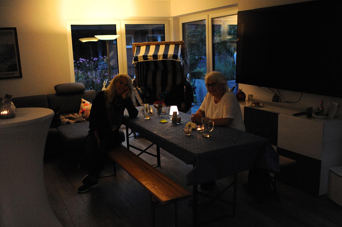 Abendausklang im Wohnzimmer
